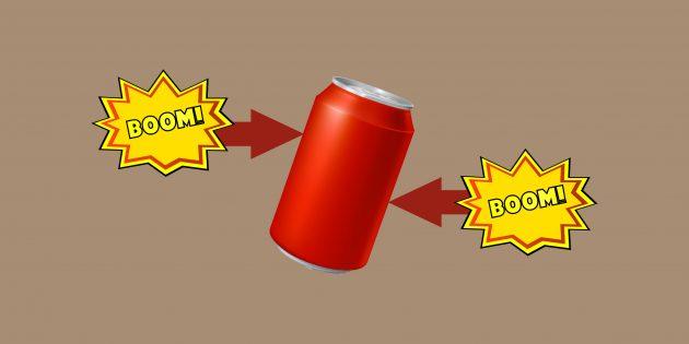 Как открыть банку с газированным напитком, чтобы не было брызг