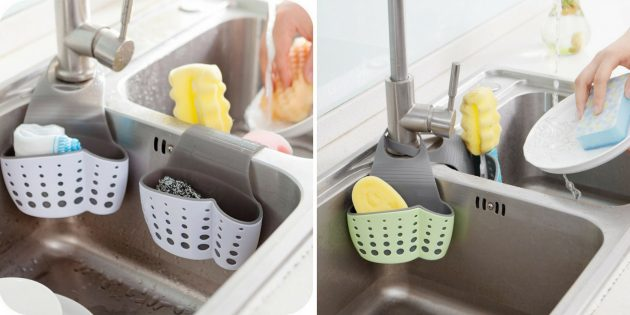Силиконовый держатель для кухонной губки