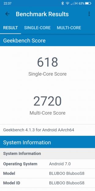 Bluboo S8 test 2
