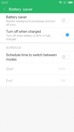 Redmi Note 5a: батарея