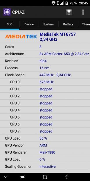 UMIDIGI S2. CPU-Z 1