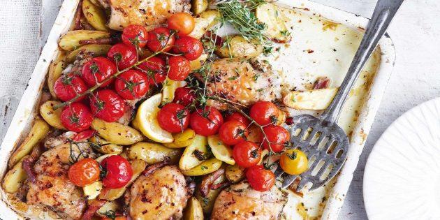 Запечённая картошка с курицей от Джейми Оливера