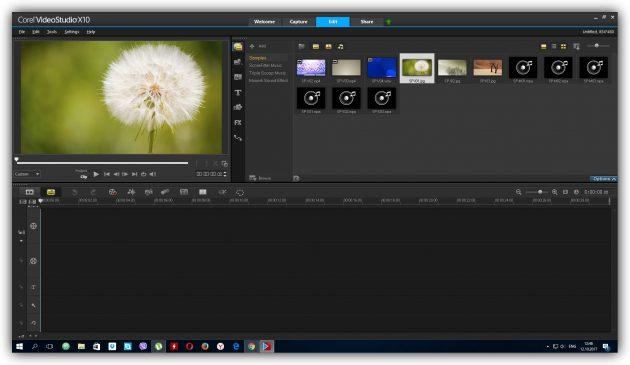 Programs for video editing: Corel VideoStudio Pro X10