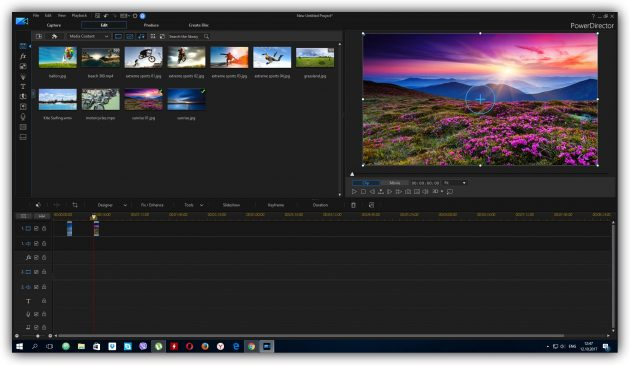 Programs for video editing: CyberLink PowerDirector 16 Ultra