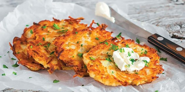 Картофельные драники с курицей