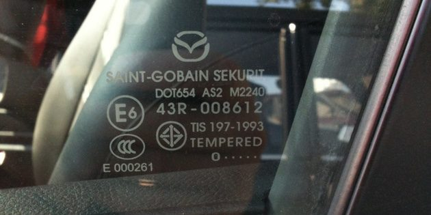 Как купить подержанное авто: Маркировка стёкол может отличаться 1–2 цифрами или символами