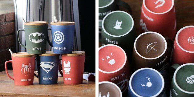 Чашки с супергероями