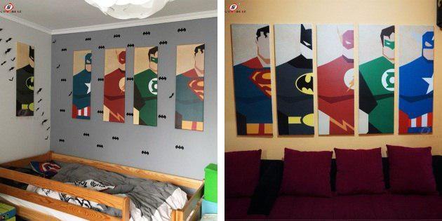 Постеры с супергероями
