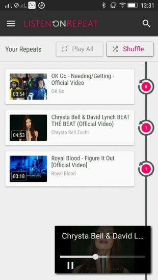 ListenOnRepeat: мобильное приложение
