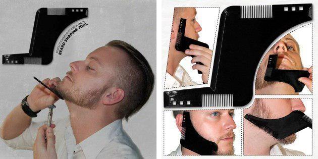 Гребень-трафарет для бороды
