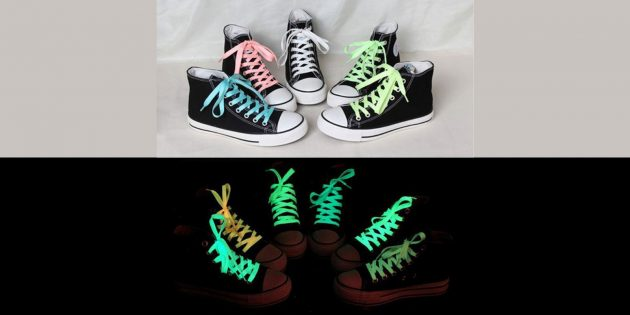 Что подарить ребёнку: светящиеся шнурки