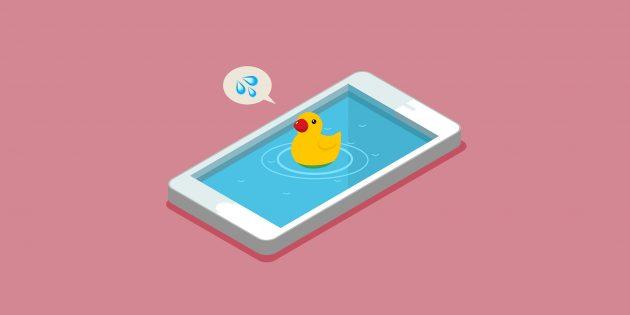 Что делать, если телефон упал в воду или просто промок