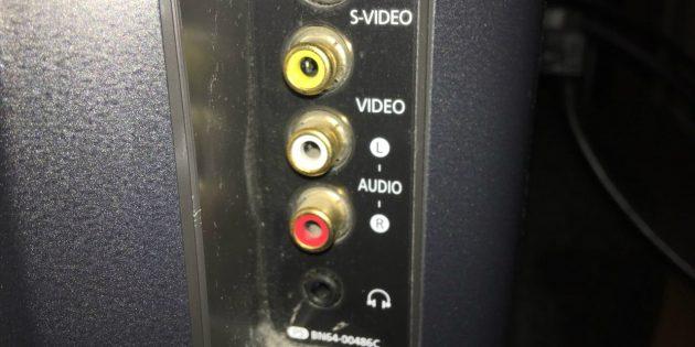 Как подключить телевизор к компьютеру через кабель: Порты формата RCA