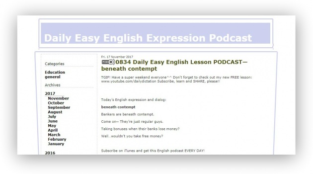 подкасты для изучения языка: Daily Easy English Expression Podcast