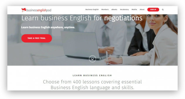 подкасты для изучения языка: Business English Pod
