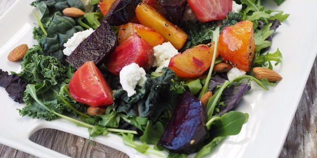 диетические салаты: салат с печёной свёклой