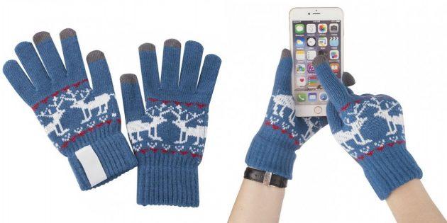 подарки на Новый год: тёплые сенсорные перчатки