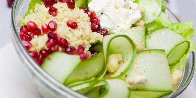 диетические салаты: салат с булгуром