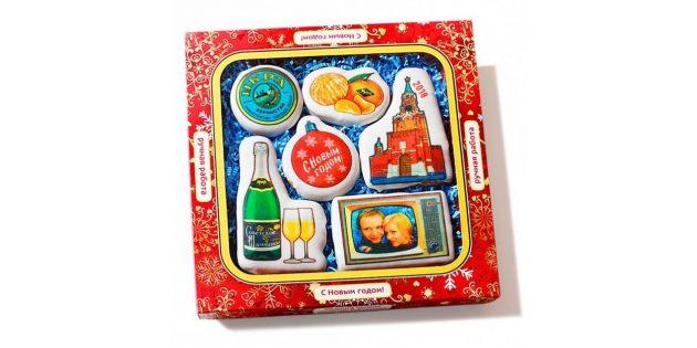 подарки на Новый год: печенье «Новогоднее ретро»