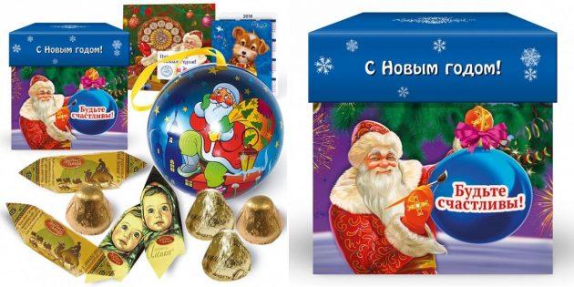 подарки на Новый год: ёлочный шар с сюрпризом