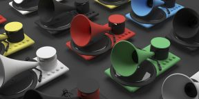 Штука дня: Kozmophone — граммофон с голографическим дисплеем и съёмным Bluetooth-динамиком