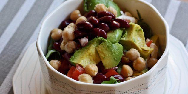 диетические салаты: салат с нутом