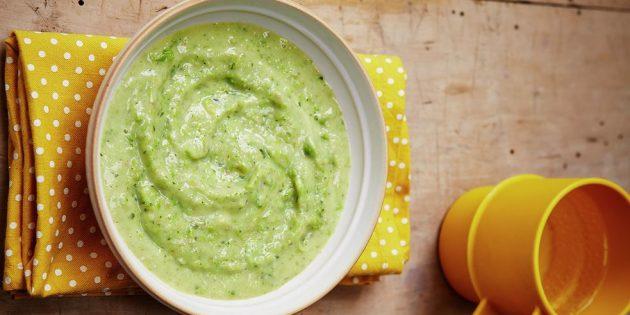 Блюда из картошки: Суп из картофеля, лука-порея и зелёного горошка