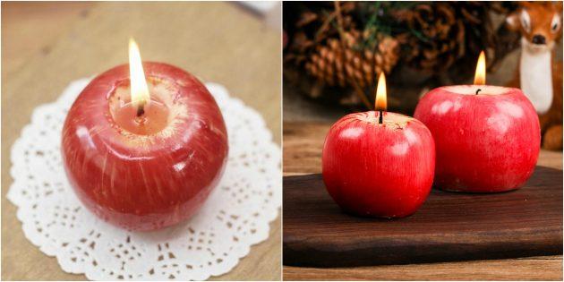 Новогодние подарки с AliExpress дешевле 100 рублей: Декоративная свеча