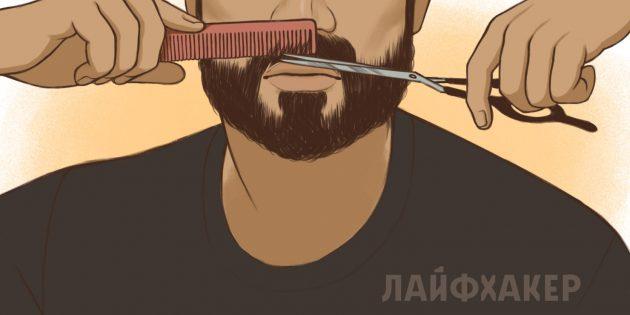 Обрезайте волосы ниже губы