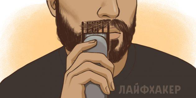 Стригите усы каждые 1–2недели