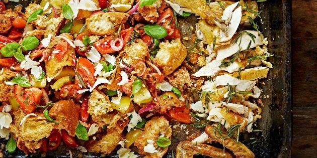 Вкусные блюда из курицы: Панцанелла с курицей