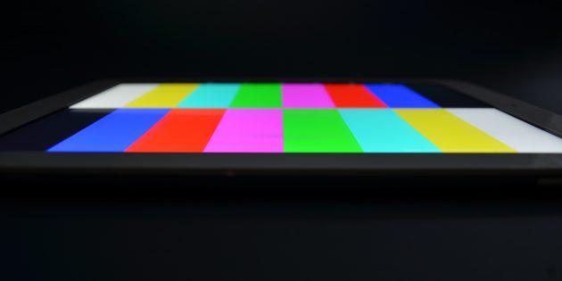 Teclast X98 Plus II: отображение цветов