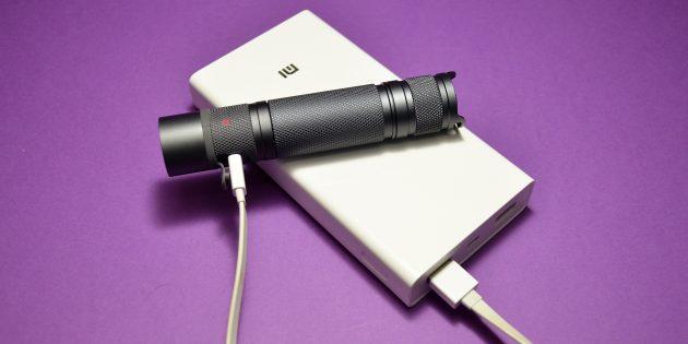 как выбрать фонарик: EagleEye X2R: зарядка