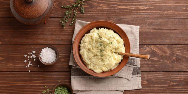 Пюре из печёного картофеля и сельдерея — рецепт Джейми Оливера