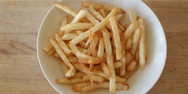 Как приготовить картошку фри на плите
