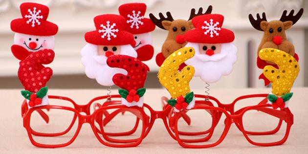 Новогодние подарки с AliExpress дешевле 100 рублей: Карнавальные очки