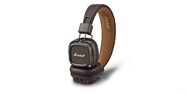 хорошие Bluetooth-наушники Marshall Major II с разъёмом для аудиокабеля