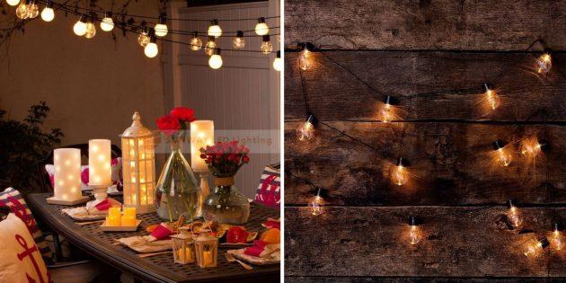 Новогодние гирлянды: гирлянда с лампочками