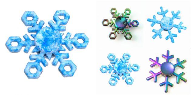 Спиннер-снежинка
