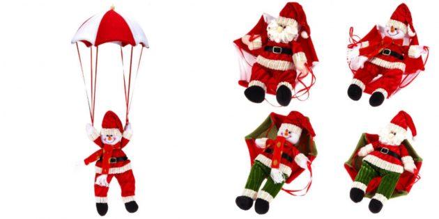 Санта-Клаус или снеговик на парашюте