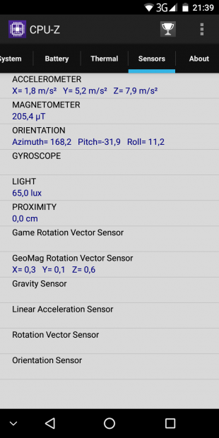 Leagoo S8: датчики