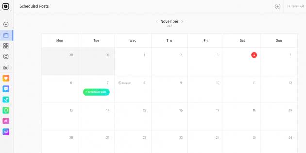 Nextpost: календарь