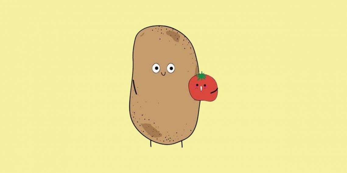 Секс онлайн на картошке
