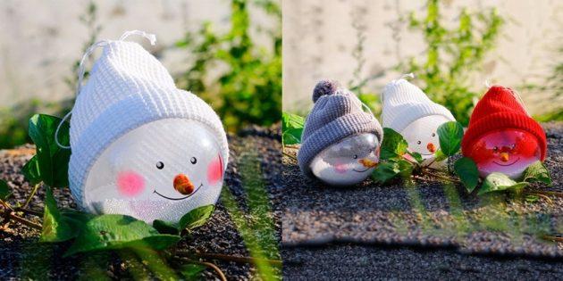 Шар-снеговик