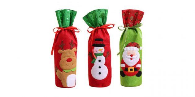 Новогодние подарки с AliExpress дешевле 100 рублей: Чехол для бутылки