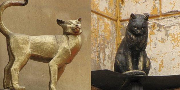 Памятники Санкт-Петербурга: Памятник коту Елисею и кошке Василисе