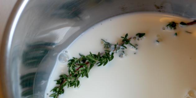 Как приготовить картофельное пюре: Добавьте травы в молоко