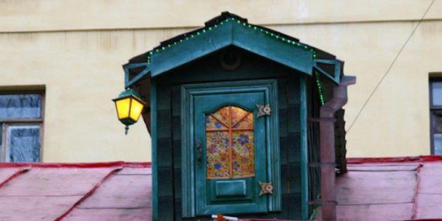 Что посмотреть в Санкт-Петербурге: Двор с домиком Карлсона