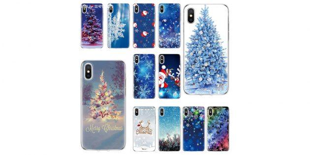 Новогодние подарки с AliExpress дешевле 100 рублей: Чехол на телефон