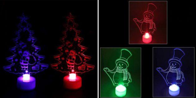 Новогодние подарки с AliExpress дешевле 100 рублей: Декоративные огни
